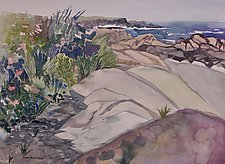 Garden in the Rocks by Sandra Humphries (Watercolor Painting)