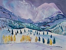 December Storm by Sandra Humphries (Acrylic Painting)