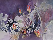 Mountain Wildflowers No.1 by Sandra Humphries (Watercolor Painting)