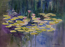 Morning Pond No.2 by Sandra Humphries (Watercolor Painting)