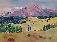 Colorado Mountains 3 by Sandra Humphries (Acrylic Painting)