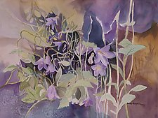 Mountain Wildflowers No.3 by Sandra Humphries (Watercolor Painting)