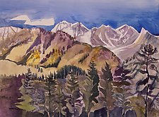 Snow on the Molas Pass by Sandra Humphries (Acrylic Painting)