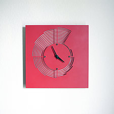 Sedimentary Clock by John Nalevanko (Metal Wall Clock)