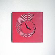 Sedimentary Clock by John Nalevanko (Metal Wall Clock)