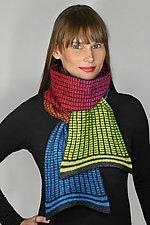 Primary Painted Aurora Scarf by Kristin Gereau (Silk & Wool Scarf)