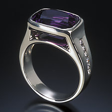 Amethyst Ring by Karina Mattei (Gold & Stone Ring)