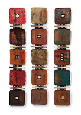 Five-Tile Modern by Rhonda Cearlock (Ceramic Wall Sculpture)