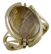 Gold and Quartz Ring by Karina Mattei (Gold & Stone Ring)