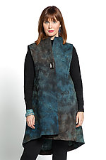 Long Felted Vest by Anne Vincent  (Silk and Wool Vest)