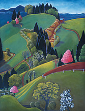 Voluptuous Hills by Jane Aukshunas (Giclee Print)