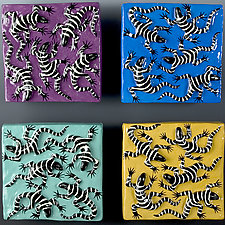 Lizard Tile Series by Lisa Scroggins (Ceramic Tiles)