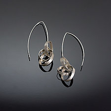 Small Scribble Earrings by Melissa Finelli (Silver Earrings)