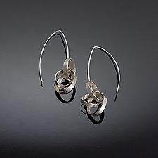 Small Scribble Earrings by Melissa Finelli (Silver Earrings)
