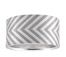 Bonded Chevron Stripe Ring by Mackenzie Law (Palladium & Silver Ring)
