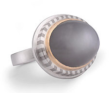 Bonded Stripe & Moonstone Ring by Mackenzie Law (Gold, Silver & Stone Ring)