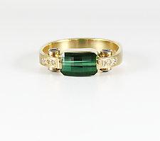 Bright Green Tourmaline Ring by Leann Feldt (Gold & Stone Ring)