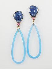 Poseidon's Tears Earrings by Leann Feldt (Gold, Silver & Stone Earrings)