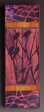 Gathering-Purple by Patty Carmody Smith (Art Glass Wall Sculpture)