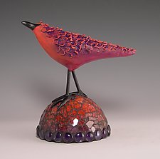 Ruffled Feathers by Patty Carmody Smith (Mixed-Media Sculpture)