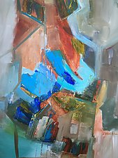 Feathered Dwellings by Carole Guthrie (Acrylic Painting)