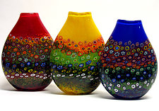 Garden Vases by Ken Hanson and Ingrid Hanson (Art Glass Vase)