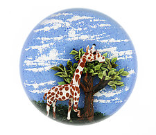 Whimsical Giraffe Paperweight by Clinton Smith (Art Glass Paperweight)