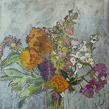 Flower Mix Number 3 by Lila Bacon (Acrylic Painting)