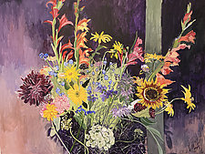 Covid Bouquet 1 06-2020 by Lila Bacon (Acrylic Painting)