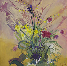Early Spring Flowers by Lila Bacon (Acrylic Painting)