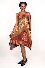 Pointy Hem Dress #1 by Mieko Mintz  (Size S (6-8), Cotton Dress)