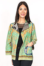 Short Jacket #3 by Mieko Mintz  (Size M (6-8), Cotton Jacket)