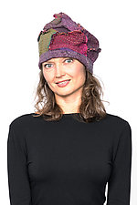 Patchwork Hat #5 by Mieko Mintz  (Cotton Hat)