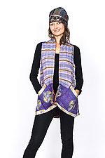 A-Line Short Vest #5 by Mieko Mintz  (Size 1 (6-12), Cotton Vest)