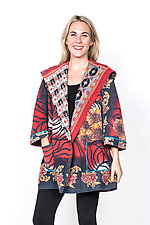 Back Tuck Jacket #3 by Mieko Mintz  (Small (2-6), Cotton Jacket)