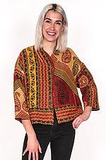 Cropped Jacket #4 by Mieko Mintz  (One Size (2-16), Cotton Jacket)