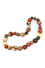 Silk Kantha Necklace #11 by Mieko Mintz  (Silk Necklace)