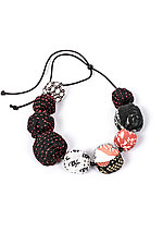 Silk Kantha Necklace #2 by Mieko Mintz  (Silk Necklace)