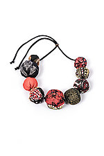 Silk Kantha Necklace #1 by Mieko Mintz  (Silk Necklace)