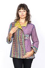 Short Jacket #7 by Mieko Mintz  (Medium (6-8), Cotton Jacket)