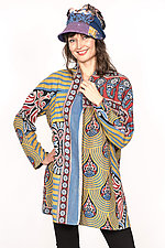 High-Neck Topper #6 by Mieko Mintz  (One Size (6-14), Cotton Jacket)