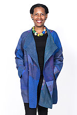 Funnel Collar Coat #7 by Mieko Mintz  (One Size (4-16), Silk Jacket)