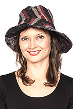 Circular Cut Brim Hat #4 by Mieko Mintz  (One Size, Cotton Hat)