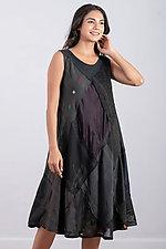 Full Circular City Dress #1 by Mieko Mintz (Cotton and Silk Dress)