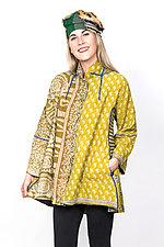 Flare Long Jacket #2 by Mieko Mintz  (Small (2-6), Cotton Jacket)