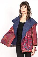 Flare Jacket #1 by Mieko Mintz  (One Size (2-14), Silk & Cotton Jacket)
