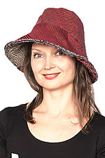 Circular Cut Brim Hat #5 by Mieko Mintz  (One Size, Cotton Hat)