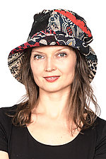 Full Brim Hat #4 by Mieko Mintz  (One Size, Cotton Hat)