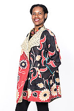 Funnel Collar Coat #5 by Mieko Mintz  (One Size (4-16), Cotton Jacket)