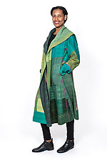 Long Coat #1 by Mieko Mintz  (One Size (4-16), Cotton Coat)